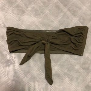 Olive Green Free People Top